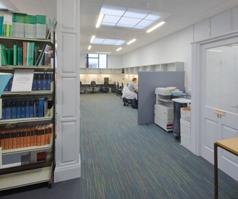 teagasc library with carpet tiles